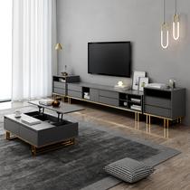 Свет роскошь ТВ шкаф журнальный столик комбо комплект скандинавский современный простой гостиной небольшой простой творческий домашний напольный шкаф