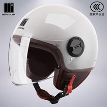 3C сертифицированный Мустанг 託 шлем мужской и женский четыре сезона теплой половины шлема электрический автомобиль жесткий шляпу