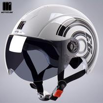 3C certification Mustang motorcycle cube electric car helmet men and women summer sun protection half helmet battery car helmet summer