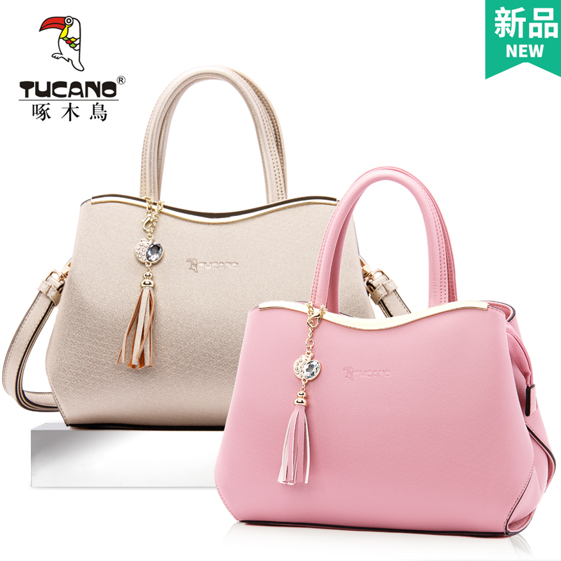Woodpecker female bag lady bag female 2018 new summer fashion single shoulder Messenger bag tide take handbag female