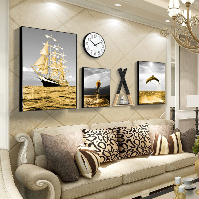 Nordic living room decorative painting sofa background wall creative combination mural modern simple dining room wall decorative hanging