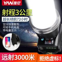 Yani LED headlight bright light charging ultra-bright headlight outdoor ultra-long-life lithium mine lamp import