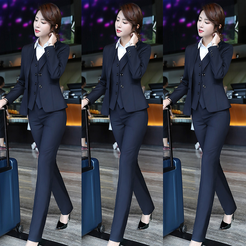 Suit suit Femininity 2021 Spring and autumn fashion professional dress socialite formal dress Bank workwear High-end suit