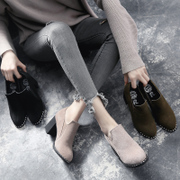 Autumn autumn autumn shoes shoes 2017 new high-heeled shoes with thick tide in autumn and winter shoes all-match.