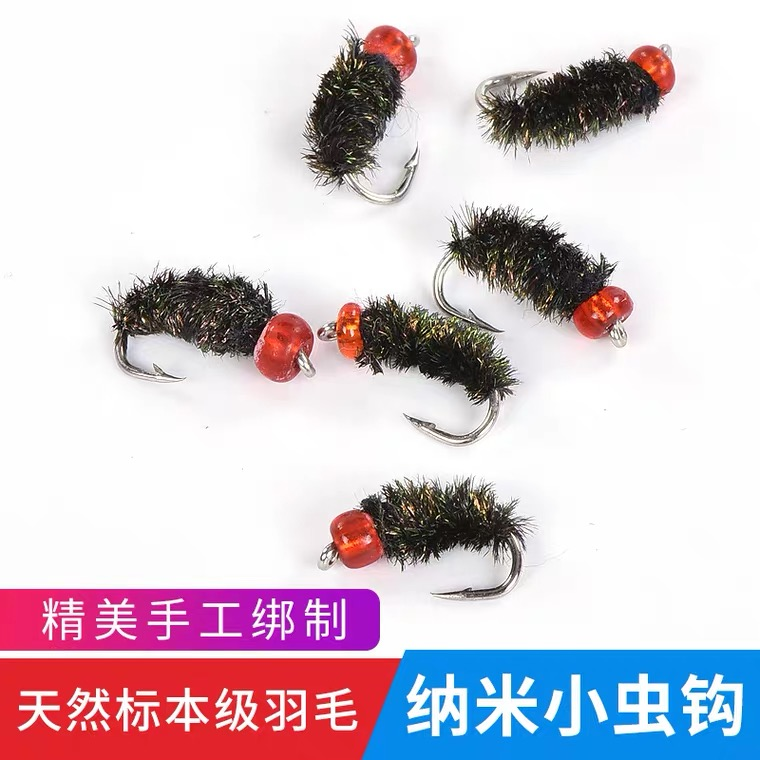 Fly hook road sub-bait fake bait fishing big white strip horse mouth mouth set tied up fishing group fly nano-toxic mosquito hook