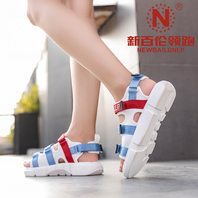 New Balance leads the thick-soled beach sandals fairy style seaside all-match casual shoes men's outer wear trendy couple fashion