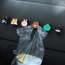 Car hook cartoon car front decoration supplies Daquan Female multi-functional seat chair back car small hook