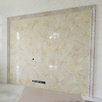 Imitation de marbre TV fond mur frontière carrelage décoratif Taille ligne pierre en plastique Porte Couverture Sac bord pierre artificielle lignes