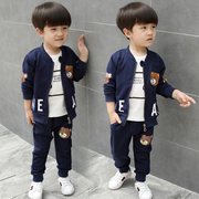 Boys autumn 2017 new kids children three 1-3-5 years old children and baby clothes suit