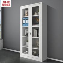 All-body glass filing cabinet office tin cabinet glass door-to-door lock data Cabinet financial filing cabinet material cabinet
