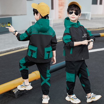 Childrens clothing boys spring set 2020 new childrens children in the spring and autumn season Yangyang Korean version of the work clothes two sets