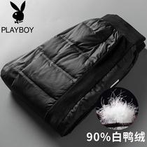 Playboy Hiver Nouvelle usure extérieure vers le bas Pantalon Hommes Épais Chaud casual Pantalon Hommes version coréenne de la poutre pied pantalon