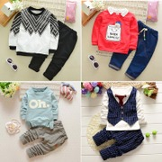 2017 autumn new boy children suit female baby in spring and autumn of two 0-1-2-3-4 year old tide