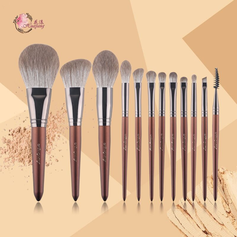 Hua Yang occasional makeup brush set loose powder, blush, eye shadow, repair, high light lip and lip brush, Cangzhou super soft and fast drying.
