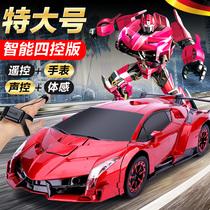 Gesture sensing deformation remote control car charging four-wheel drive racing King Kong robot Children boy oversized toy car