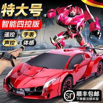 Déformation par induction geste télécommande voiture charge quatre roues motrices course King Kong robot enfants garçon surdimensionné voiture jouet