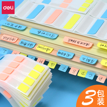 Effective post-it Page Number label index stickers small notes focus transparent mark color indicator fluorescent label paging notes student stationery bookmarks creative file stickers