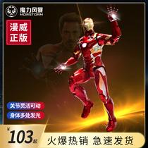 MORSTORM moving Iron Man Spider-Man Marvel Enemy Alliance anti-bullying model pendulum toy MK46
