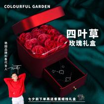 Yanyuan Tanabata Valentines Day gift to send girlfriend Rose gift box Romantic gift to wife girl to coax girlfriend artifact gift box