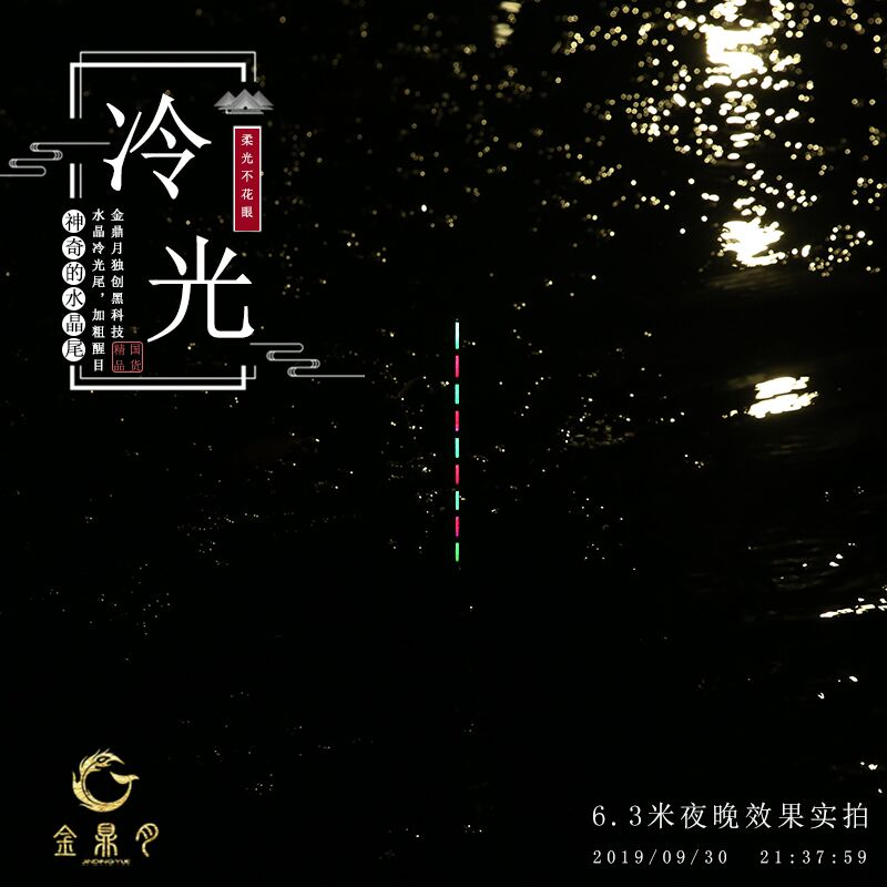 Jinding moon night light drift highly sensitive reed fish drift day and night two-use floating mackerel ticket cold light tail electronic drift