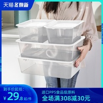 Small transparent storage box plastic has a cover rectangular clutter collection box book toys finishing clothes storage box