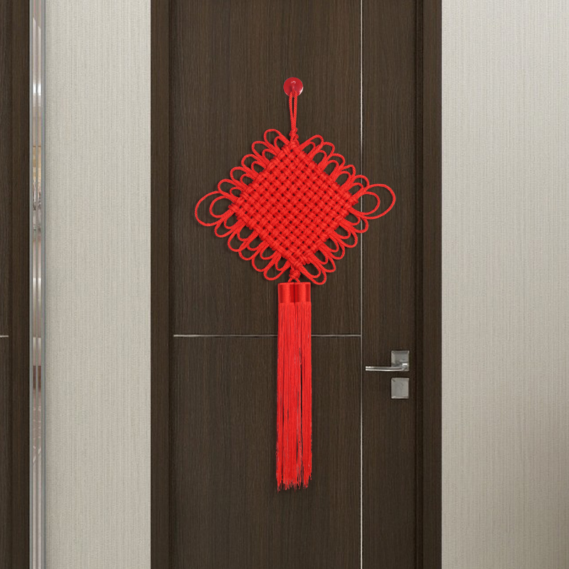 Double-line red decoration on the high-grade background wall of the new residence of Ping'an Manual Recruitment