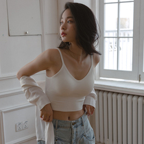 New products with chest pad underwear u-shaped beauty back small suspender summer vest womens inner tie base shirt Outer wear bra