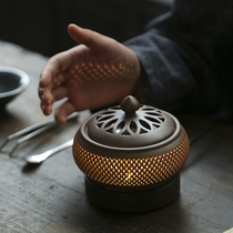 Make fun of timed temperature-adjusted electronic incense oven ceramic incense oven home plug-in sandalwood furnace indoor incense