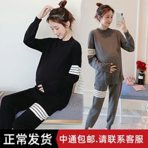 Pregnant women spring suit fashion models 2020 new spring sweater two sets of cover pregnant women spring and autumn models