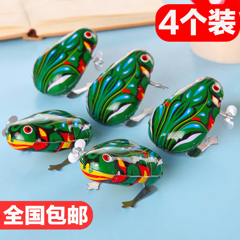 Skipping Tin Frog Winding Children's Toy Skipping Frog