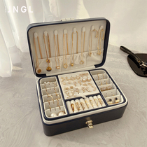 Large capacity multi-layer jewelry box European high-grade luxury earrings earrings necklace ring jewelry display storage box