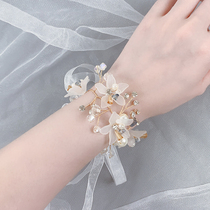 Bridesmaid wrist flower Korean-style wedding sister group Mori bride wedding high-end small fresh beauty simple bracelet