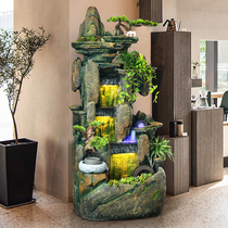 Rockery water fountain feng shui wheel lucky ornaments floor living room water landscape decorations office within the transfer ball