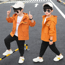 Boy jacket 2020 new Big children children boys boys spring and autumn clothes wind clothes autumn jacket tide clothing