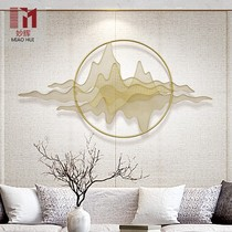 New Chinese decorative wall hanging wall living room wall iron hanging Mountain Shadow painting wall decoration creative three-dimensional metal wall decoration