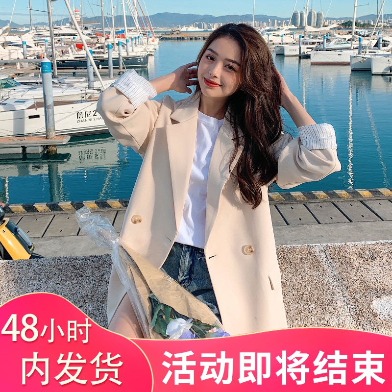 Spring and autumn womens small blazer Korean version loose 2021 new casual suit net red suit British style top