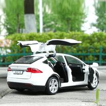 1:32 Tesla Model S alloy car MODEL return force sound and light toy gull-wing door six door sports car