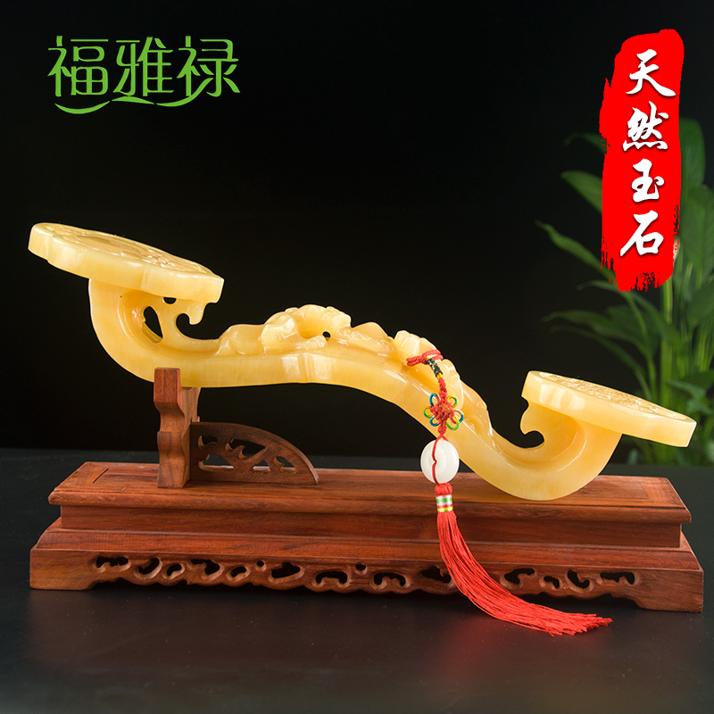 Fu Yalu Huangyu as intended to set pieces auspicious jade as intended living room Xuanguan Fengshui office set up the opening of the relocation gift