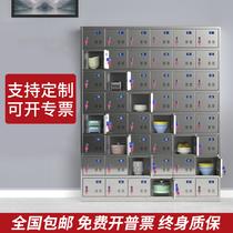 Custom 304 stainless steel locker Employee locker cupboard Dinner plate cabinet Canteen sideboard Multi-grid shoe cabinet