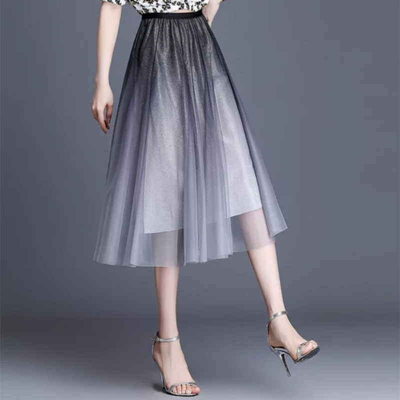 Brother Armash official website 2021 womens new high-end brand spring fashion fairy mid-length skirt