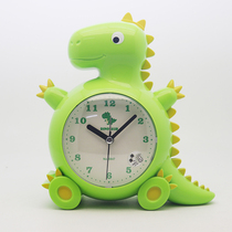 Cute cartoon alarm clock children dedicated to talking boys and girls mute night light students with a simple clock