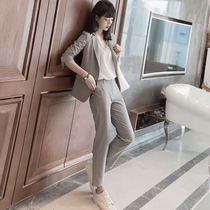 2020 new Korean version of the autumn suit jacket female tide leisure Network Red small suit British wind spring and autumn shirt