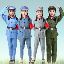Red Army clothes children children Red Army performance clothes Red Guards 65-style chorus Red Star small red army clothes