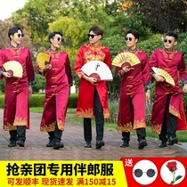 Best man clothes Chinese fraternity Group dress wedding clothes men cheongsam cross talk show he groom gown clothes