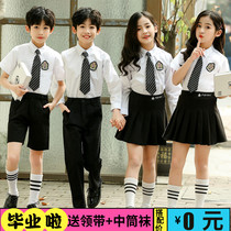 61 Childrens chorus performance suit Recitation performance suit Kindergarten graduation photo dress Class dress Primary school school uniform Summer