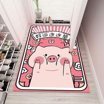 Money-grabbing cat into the door mat Xuanguan pad living room into the door mat mat mat dressing room kitchen door non-slip customization