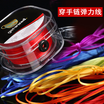 Imported hand string rope elastic cord wear bracelet beads Japanese beaded rope rubber band crystal Wen play Buddha beads wear-resistant