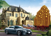Horse car origin figure HD fate pour lotus pool origin figure for wealth gain up money for the library to burn supplies