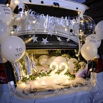 Net red trunk surprise birthday car car trunk surprise arrangement Girlfriend birthday arrangement