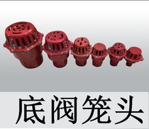 Pump agricultural check valve 3 inch iron mesh self-absorbing pump check valve bottom valve filter red self-suction type 6 inches